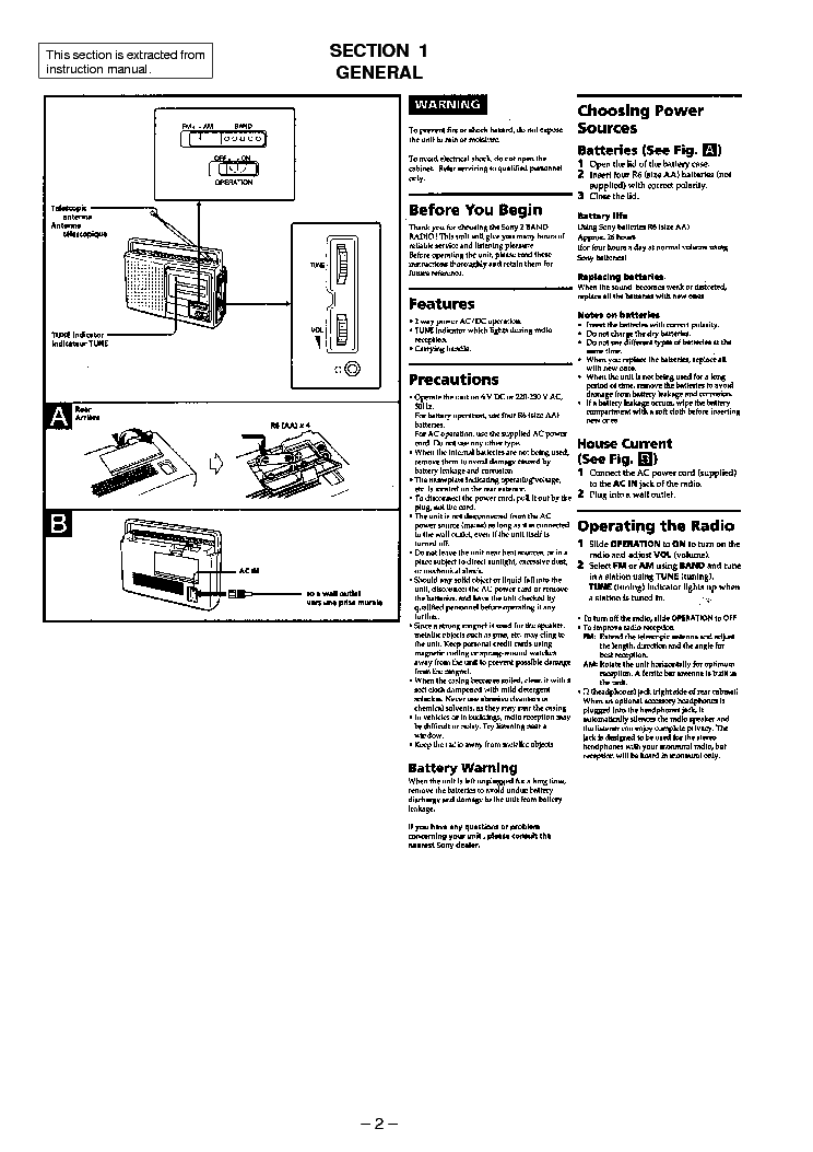 SONY ICF-28 Service Manual download, schematics, eeprom