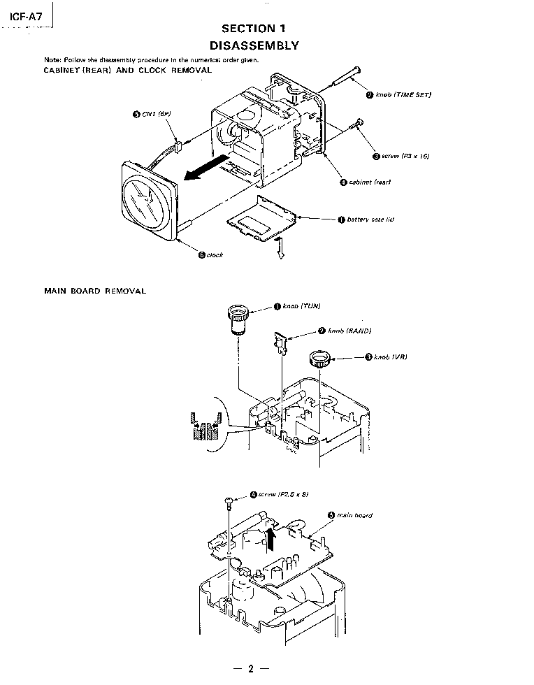 SONY ICF-A7 Service Manual download, schematics, eeprom