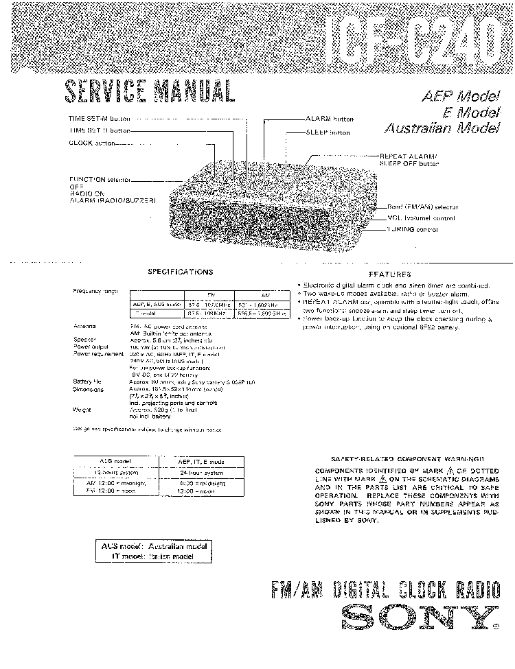 SONY ST-5000FW SCH Service Manual download, schematics