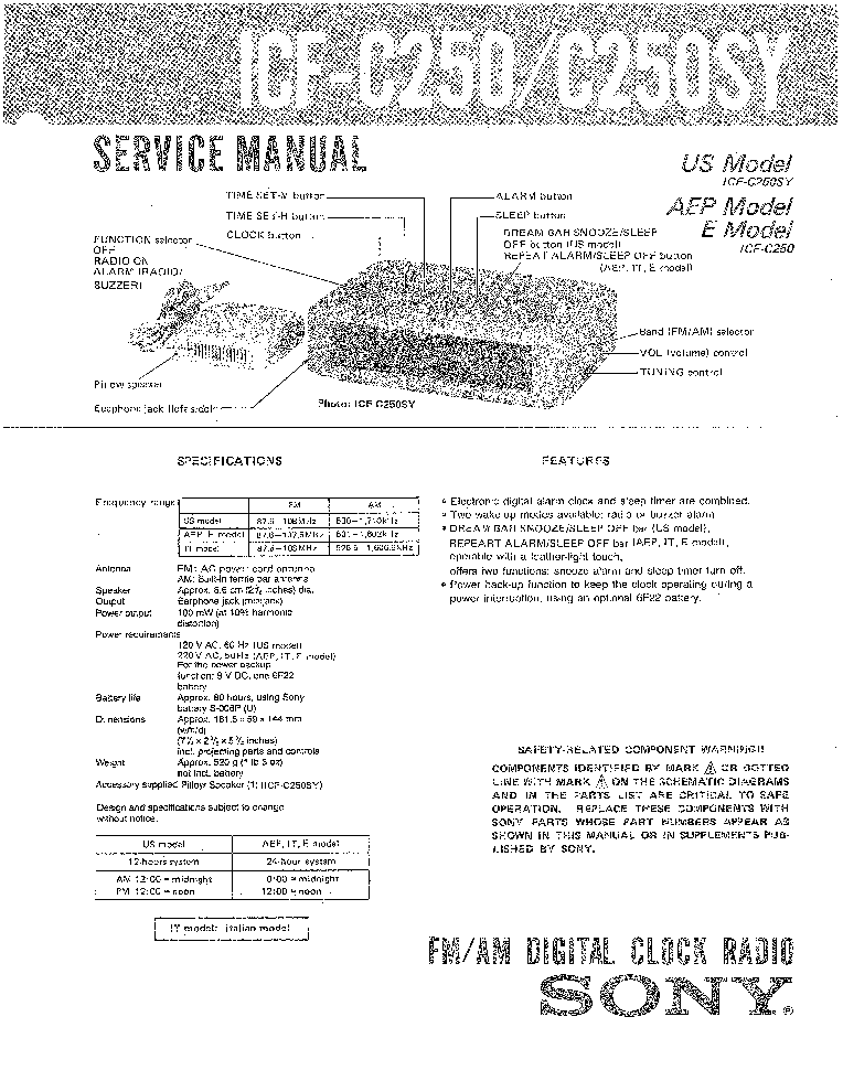 SONY HST-H311R Service Manual free download, schematics