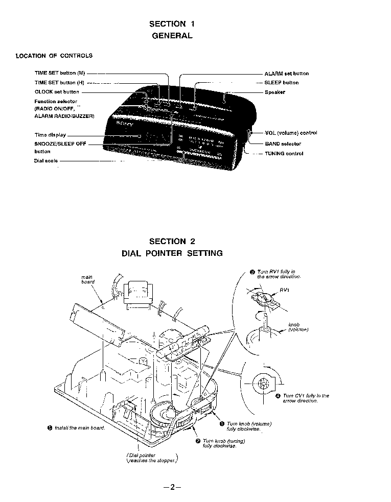 SONY ICF-C280L Service Manual download, schematics, eeprom