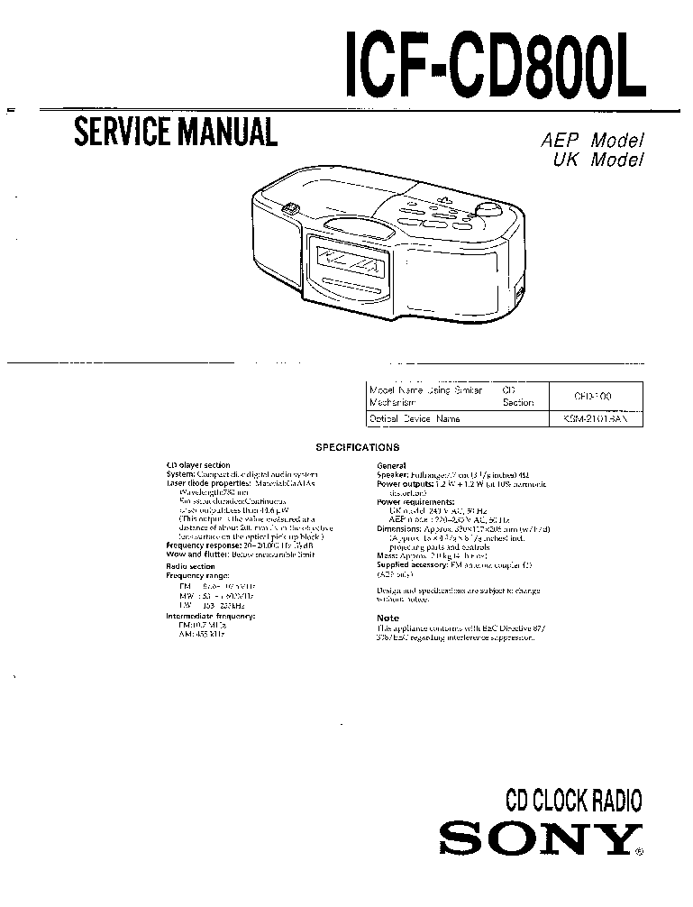SONY SA-WX700 Service Manual download, schematics, eeprom