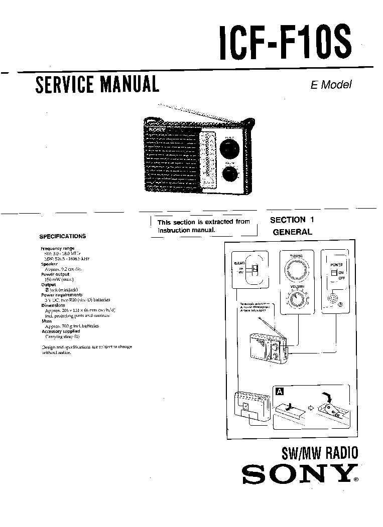 SONY ST-242S Service Manual download, schematics, eeprom