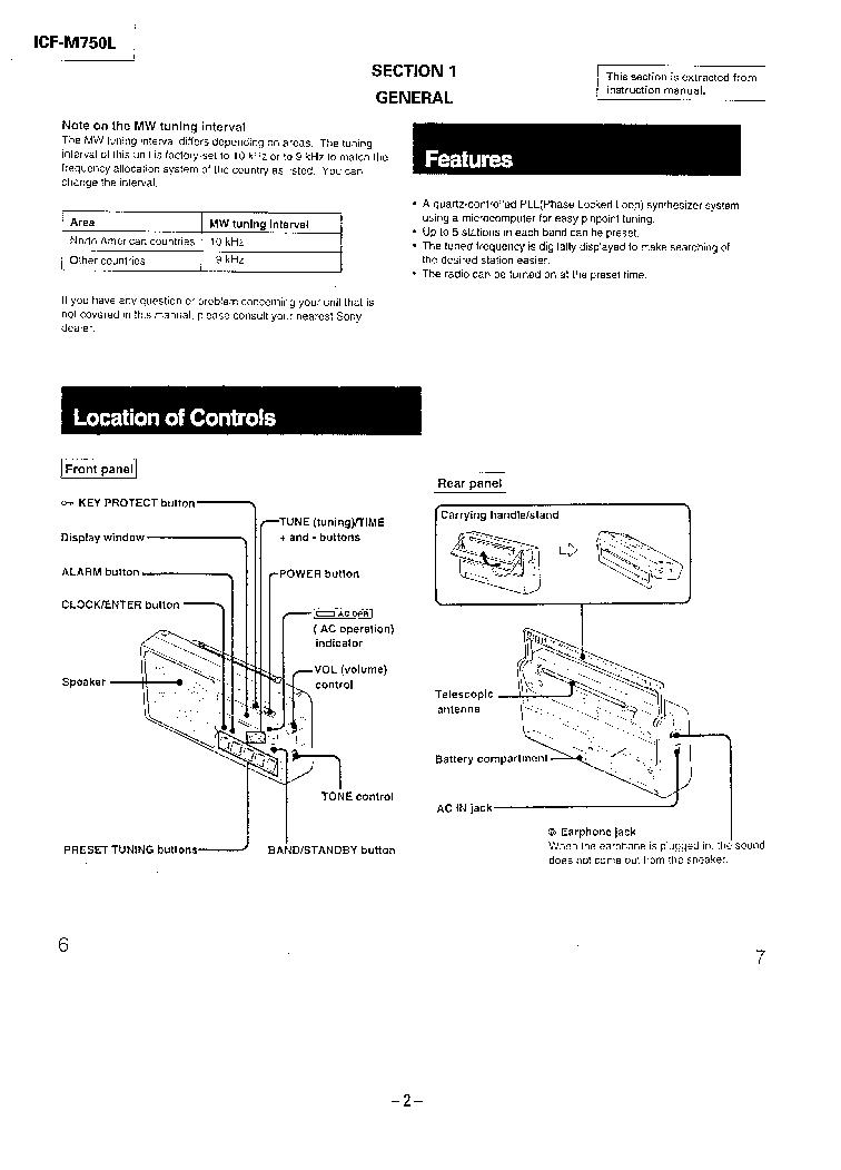 SONY ICF-M750L SM Service Manual download, schematics