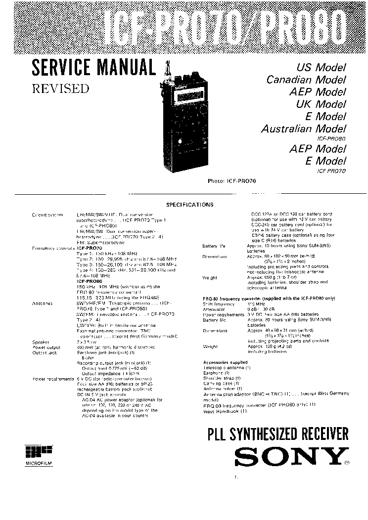 SONY STR-DE225,325 Service Manual free download