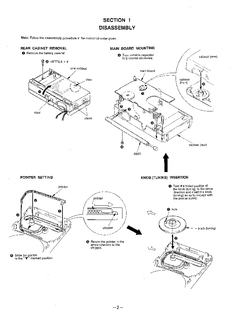 SONY ICF-S12 Service Manual download, schematics, eeprom