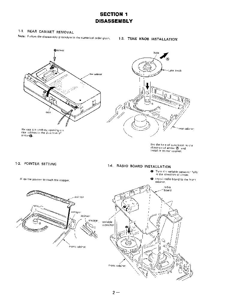 SONY ICF-S14 SM Service Manual download, schematics