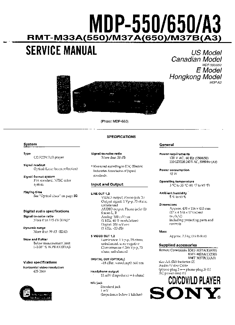SONY SA-WP780 VER.1.4 ACTIVE SUBWOOFER Service Manual free
