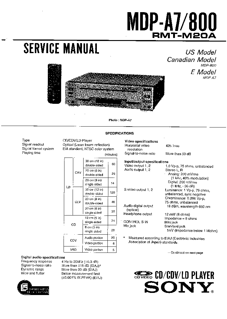 SONY SA-WMSP75 WMSP85-SM Service Manual download