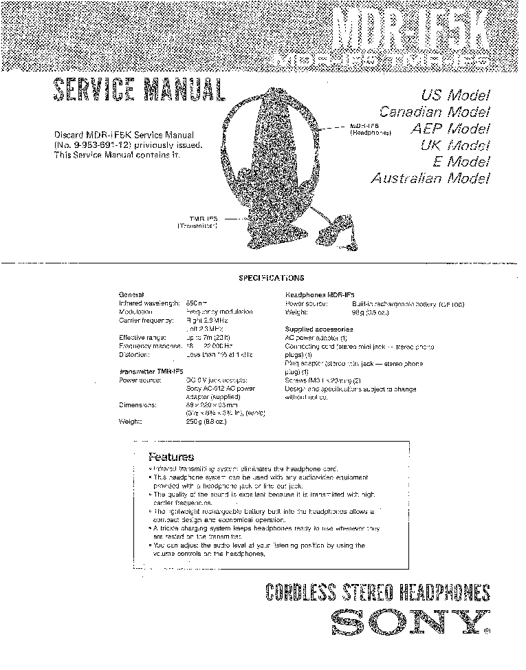 SONY HCD-H450 H450M Service Manual download, schematics