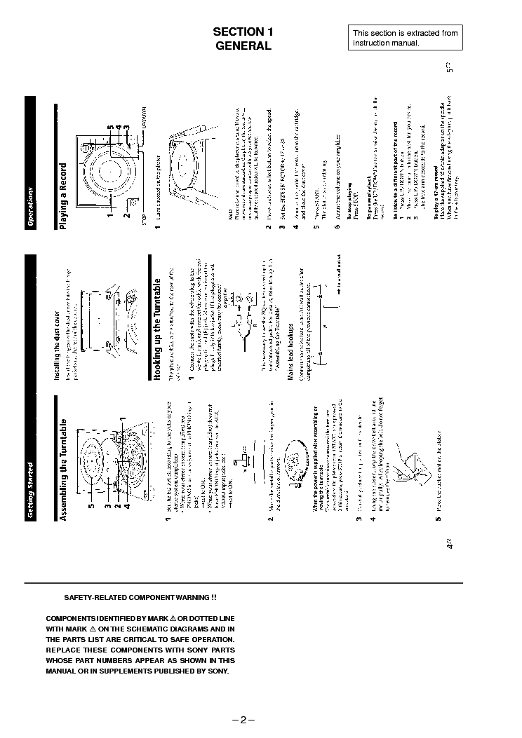SONY PS-LX250H Service Manual download, schematics, eeprom