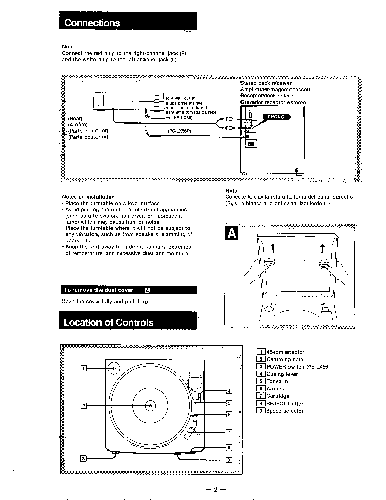 SONY PSLX56 Service Manual download, schematics, eeprom