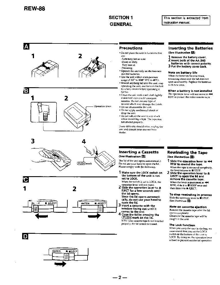 SONY REW-88 Service Manual download, schematics, eeprom