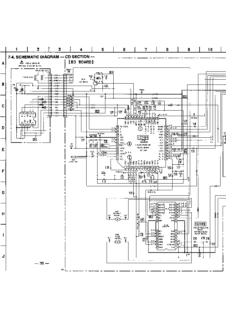 SONY CDP-590 SM 2 Service Manual download, schematics