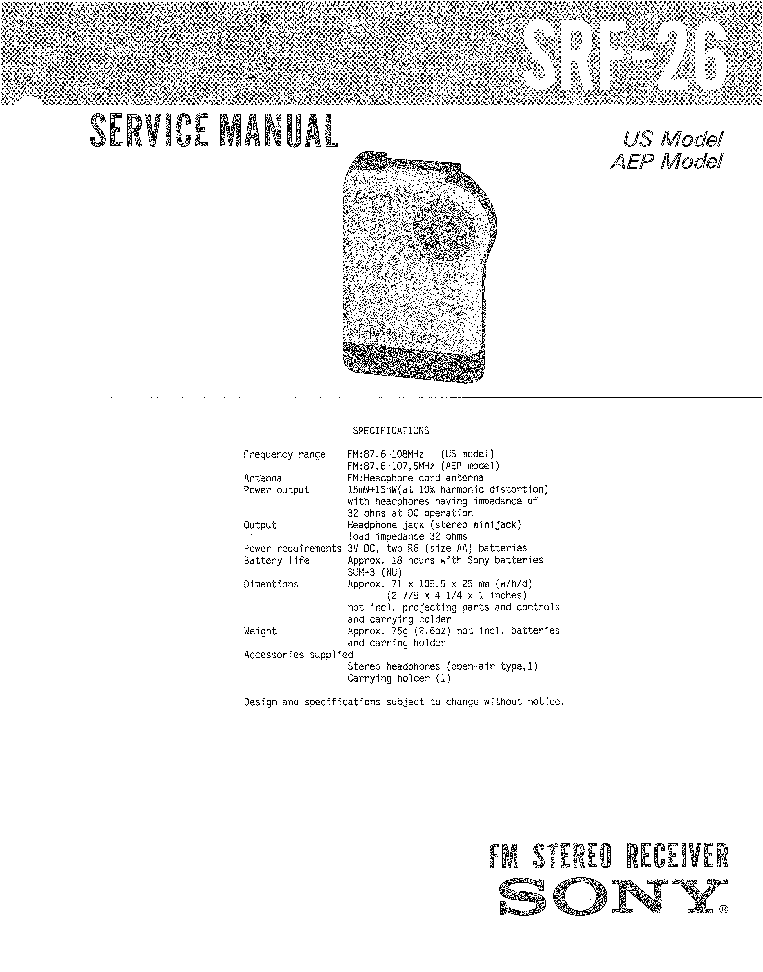 SONY C38B MIKROFON SCH Service Manual download, schematics