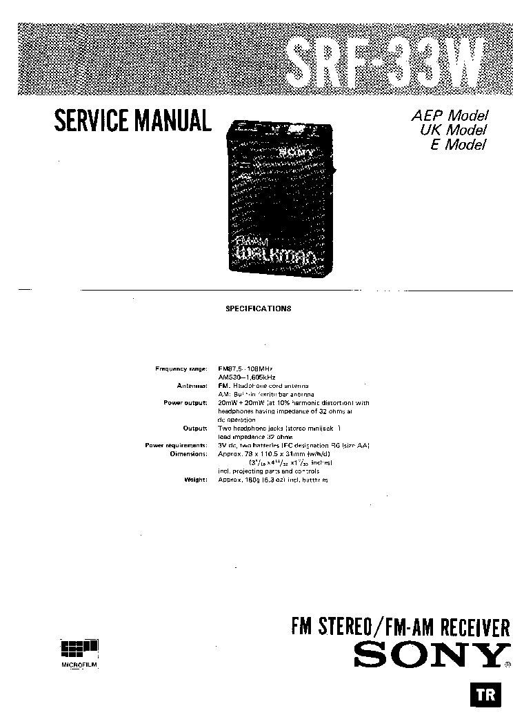 SONY STR-V333ES,V444ES,V555ES Service Manual free download