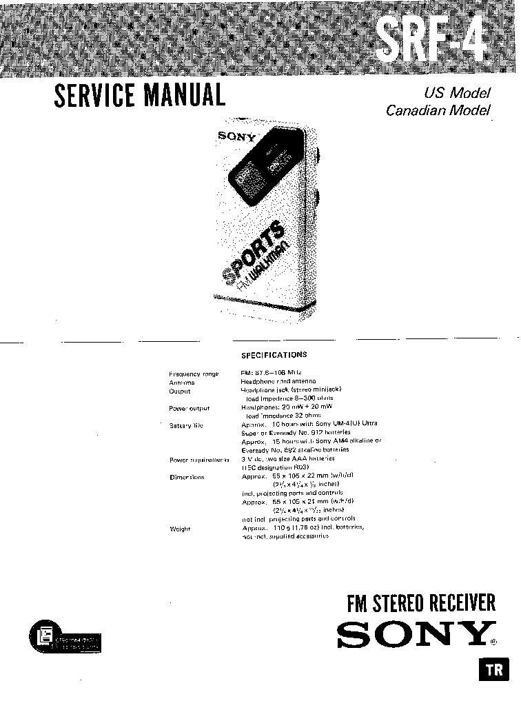 SONY WM-DX100 Service Manual download, schematics, eeprom