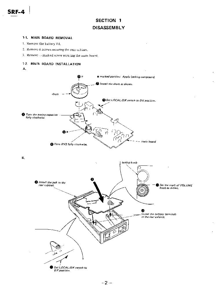 SONY SRF-4 Service Manual download, schematics, eeprom
