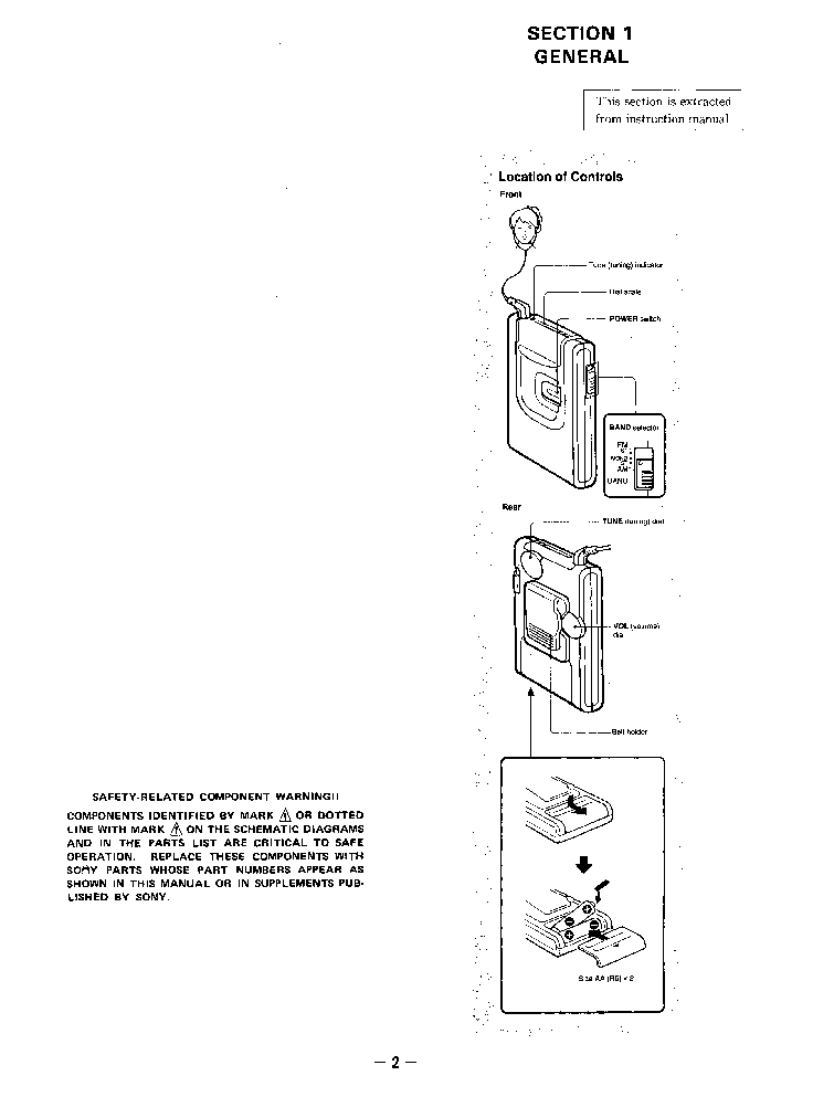 SONY SRF-42 Service Manual download, schematics, eeprom