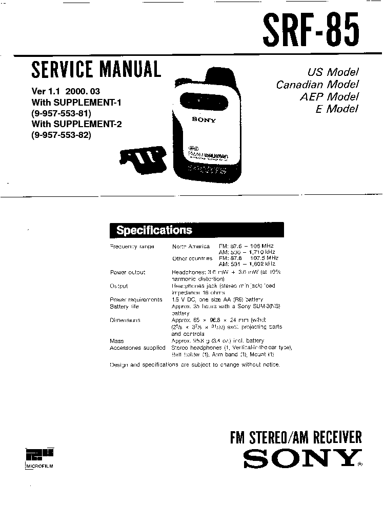 SONY HCD-RG20-30 Service Manual free download, schematics