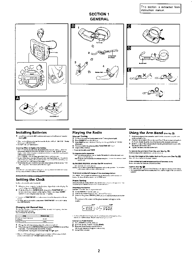 SONY SRF-M78 Service Manual download, schematics, eeprom