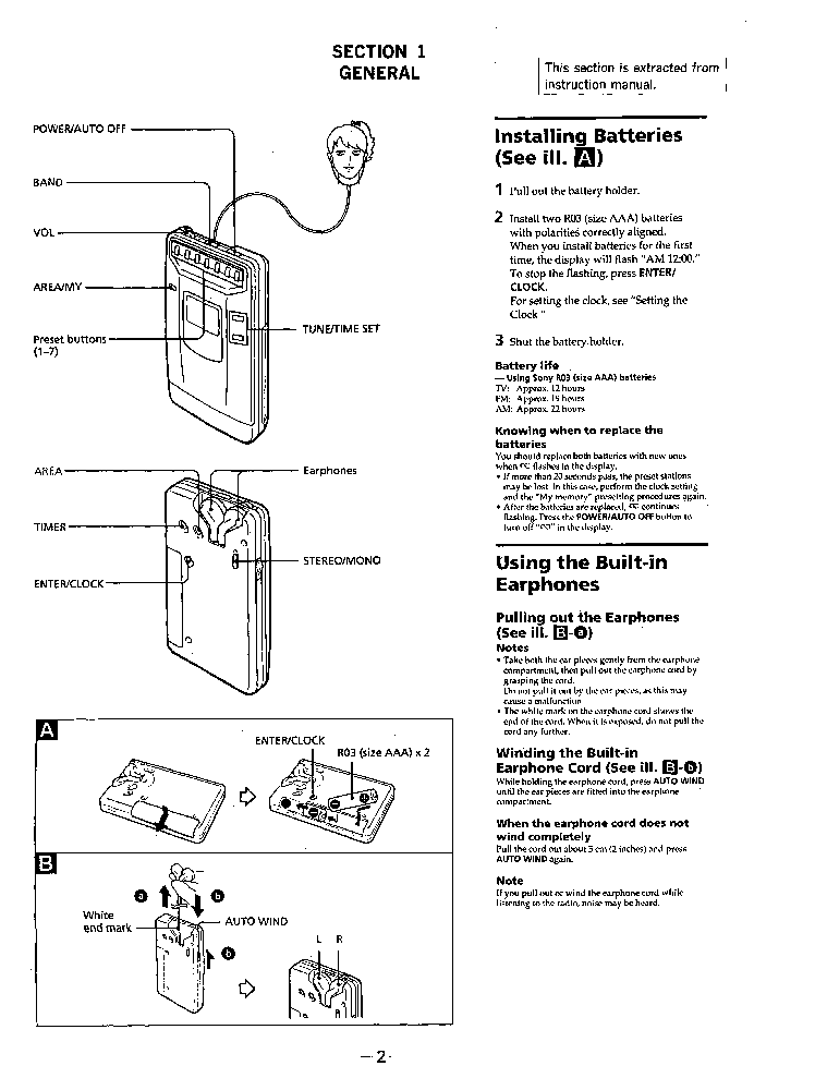 SONY SRF-SX80RV Service Manual download, schematics