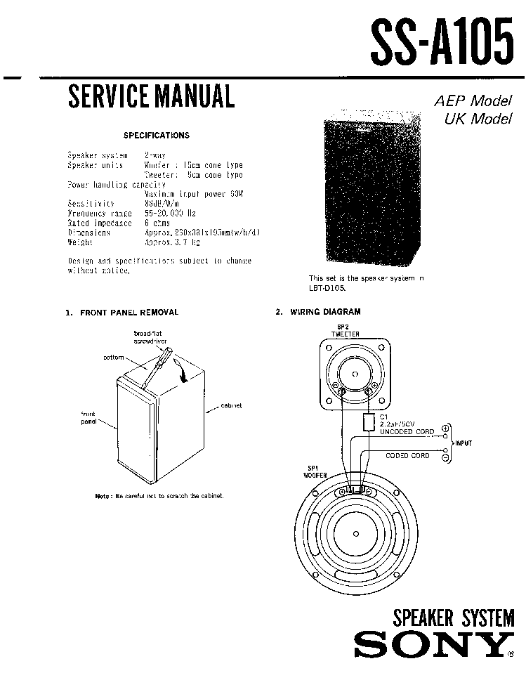 SONY STR-K1500 Service Manual free download, schematics