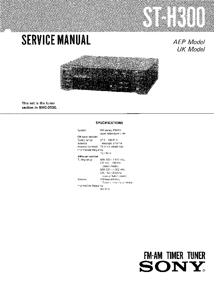 SONY MHC-EC609IP HCD-EC609IP VER1.0 SM Service Manual
