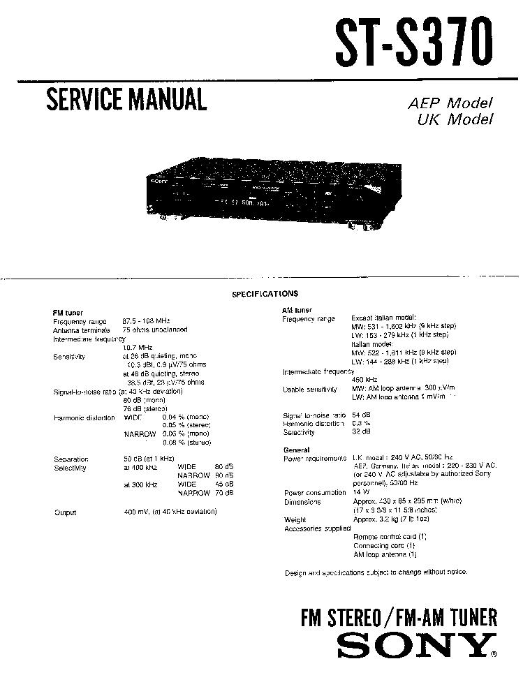 SONY TA-F445R SM Service Manual free download, schematics
