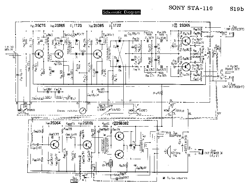 SONY STA-110 SM Service Manual download, schematics