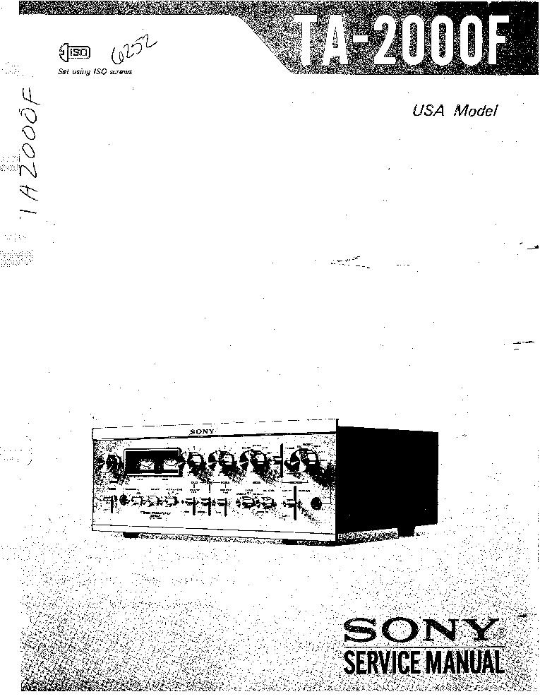 SONY TA-2000F SM Service Manual download, schematics