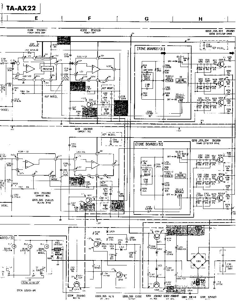SONY TA-AX22 Service Manual download, schematics, eeprom
