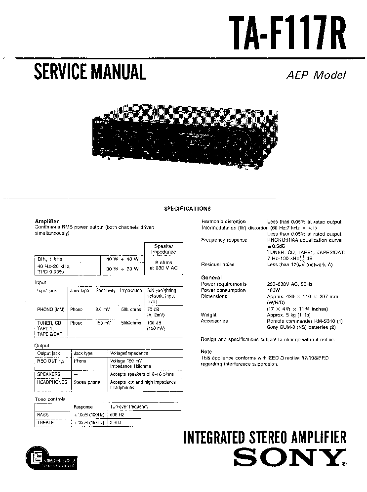 SONY PS-11 Service Manual free download, schematics
