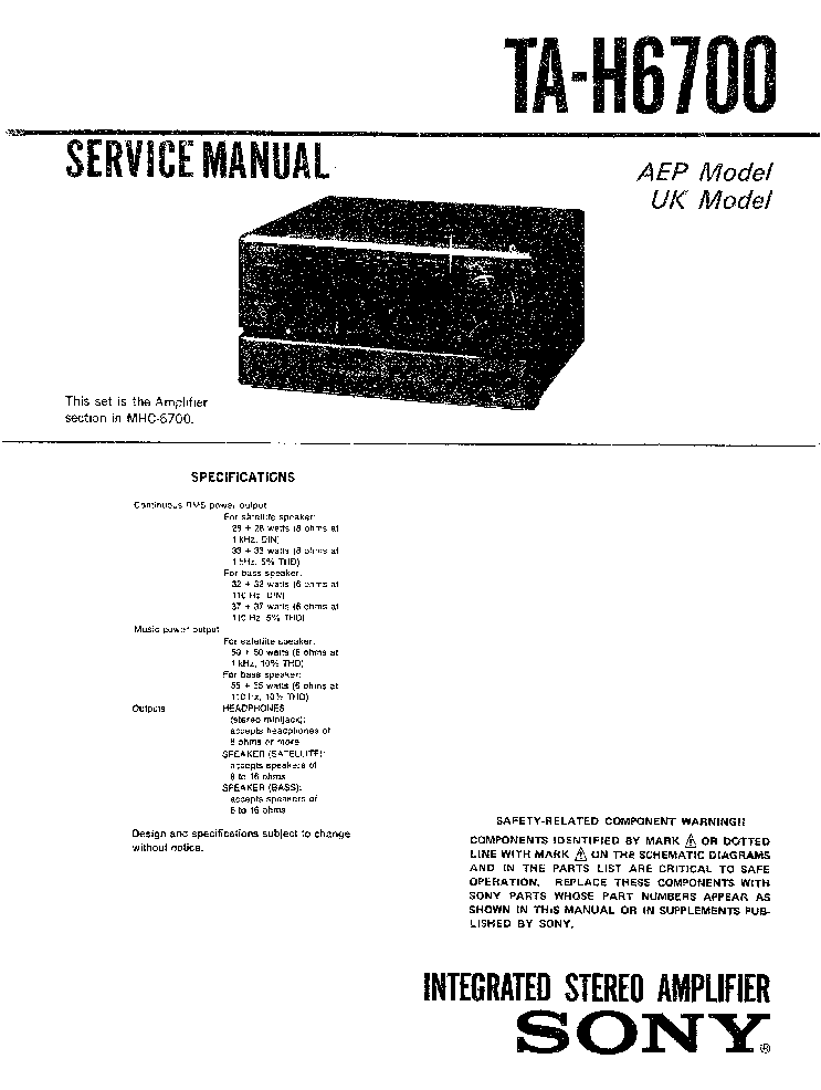 SONY WM-DD9 Service Manual free download, schematics