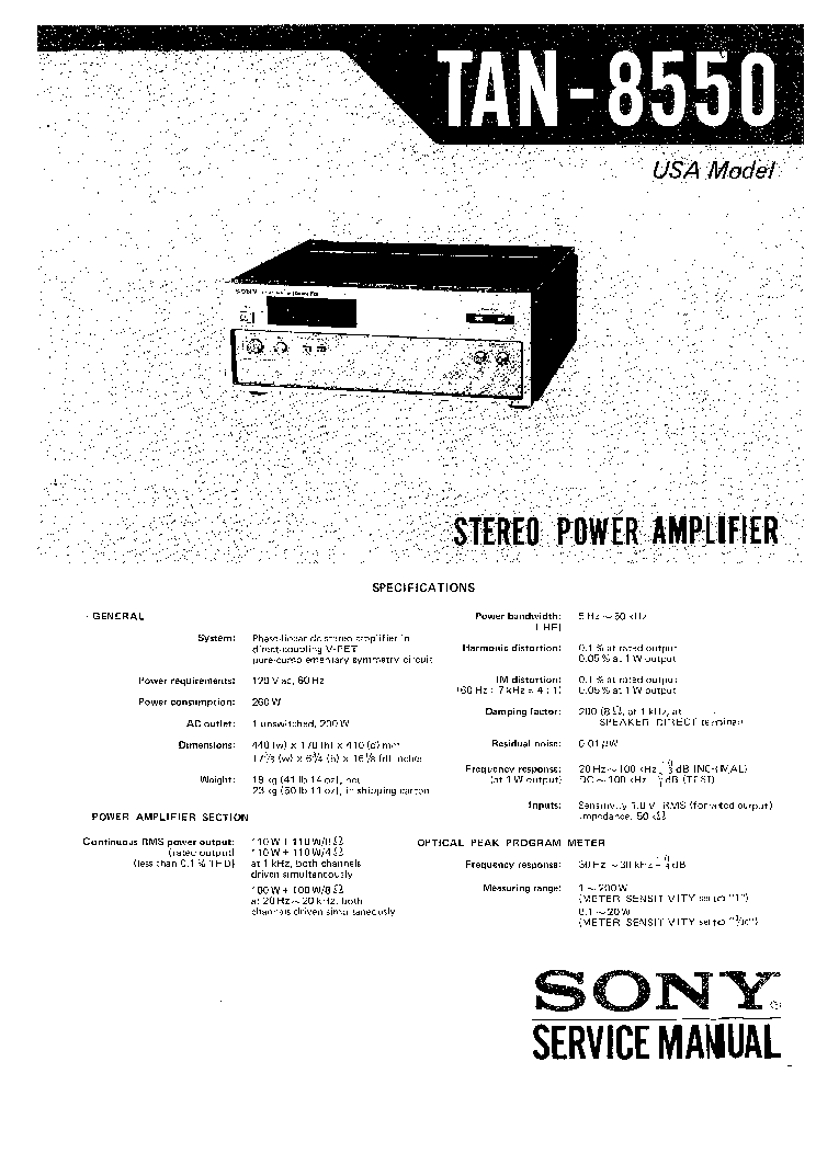 SONY STR-DE525 V515 Service Manual free download