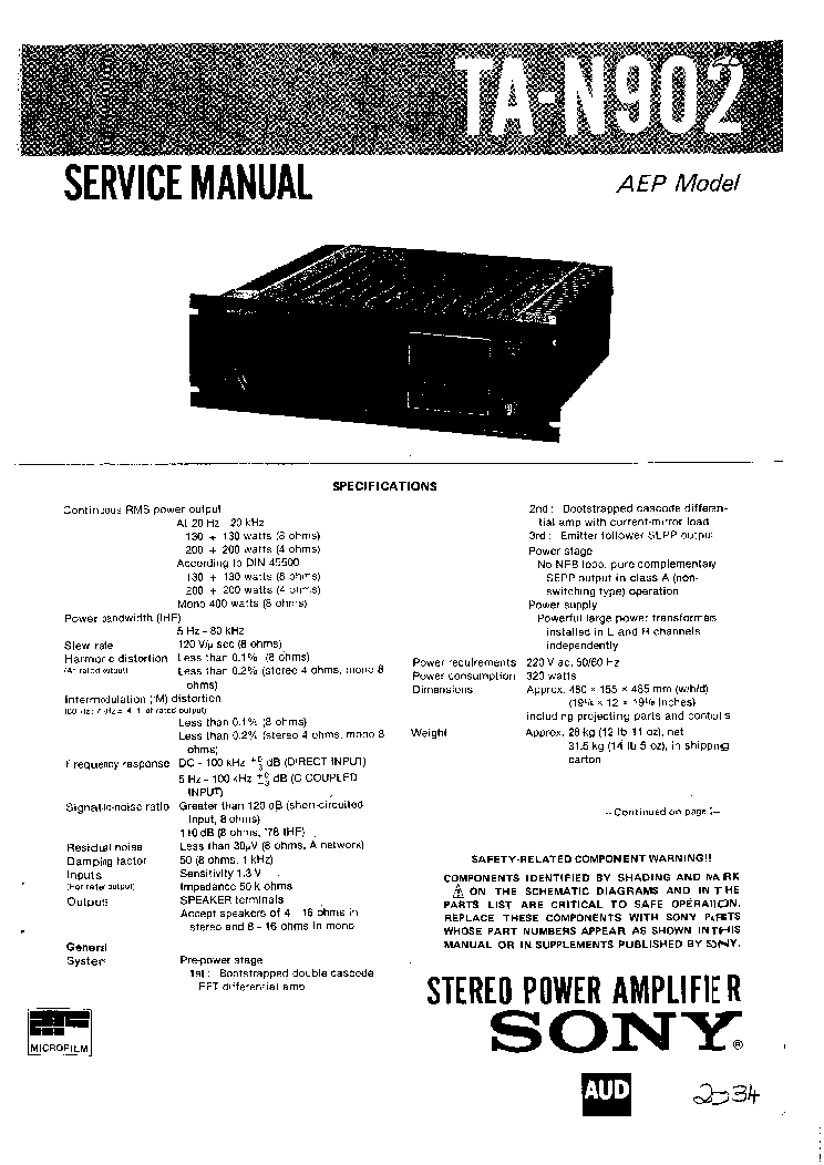SONY TR712 TRANSISTOR PORTABLE RADIO SCH Service Manual