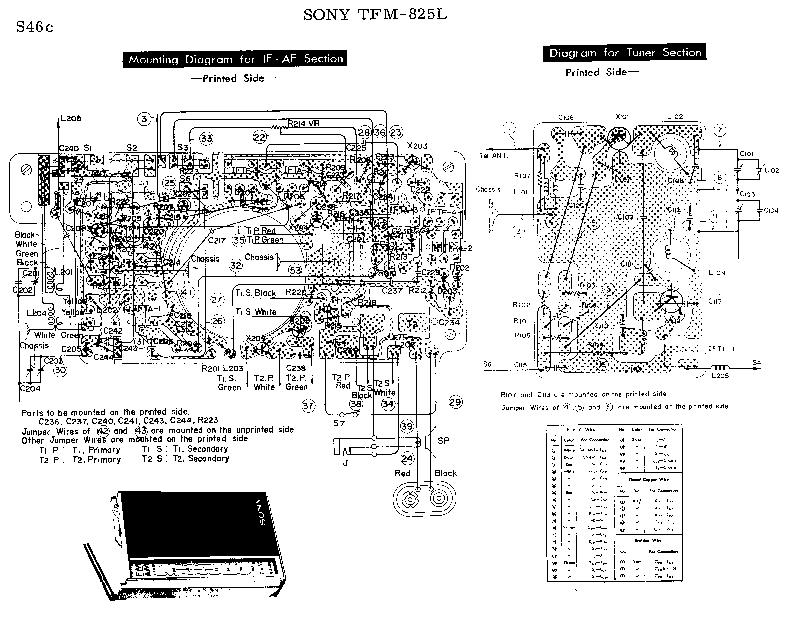 SONY TFM-825L SCH Service Manual download, schematics