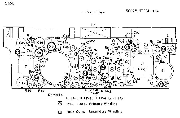 SONY TFM-914 SCH Service Manual download, schematics