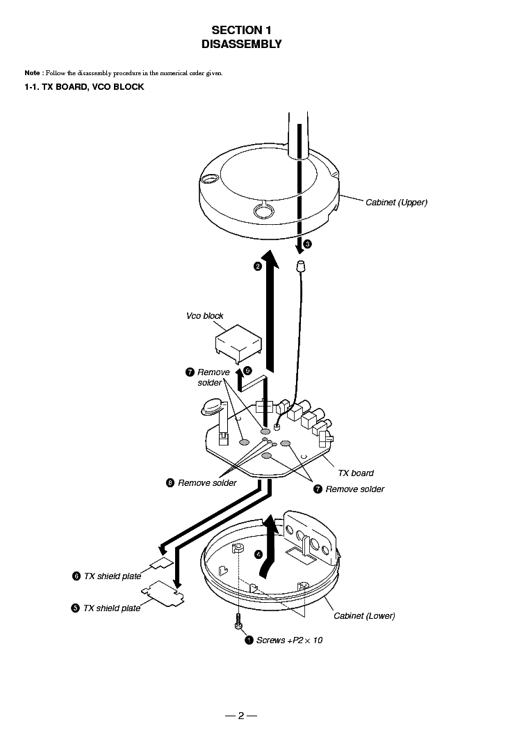 SONY TMR-RF830R Service Manual download, schematics