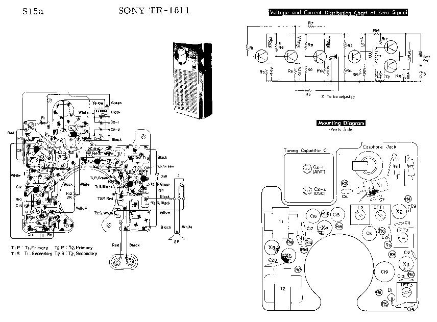 SONY TR-1811 SM Service Manual download, schematics