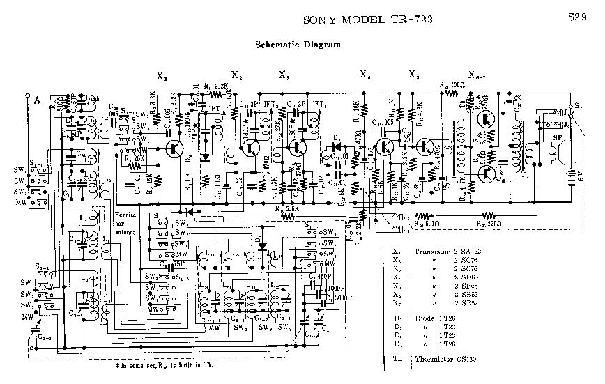 SONY TR-722 SM Service Manual download, schematics, eeprom