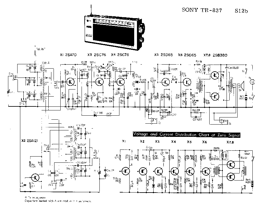 SONY TR-837 SM Service Manual download, schematics, eeprom