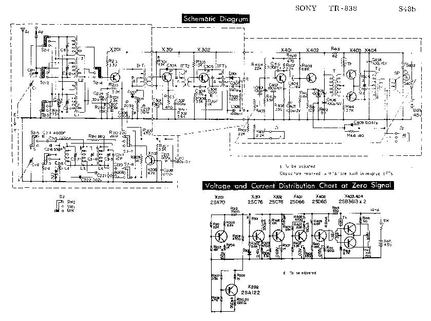 SONY STR-11S BX-1000 TUNER AMPLIFIER SCH Service Manual