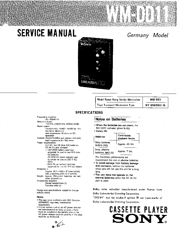 SONY XM-2200GTX SM Service Manual download, schematics