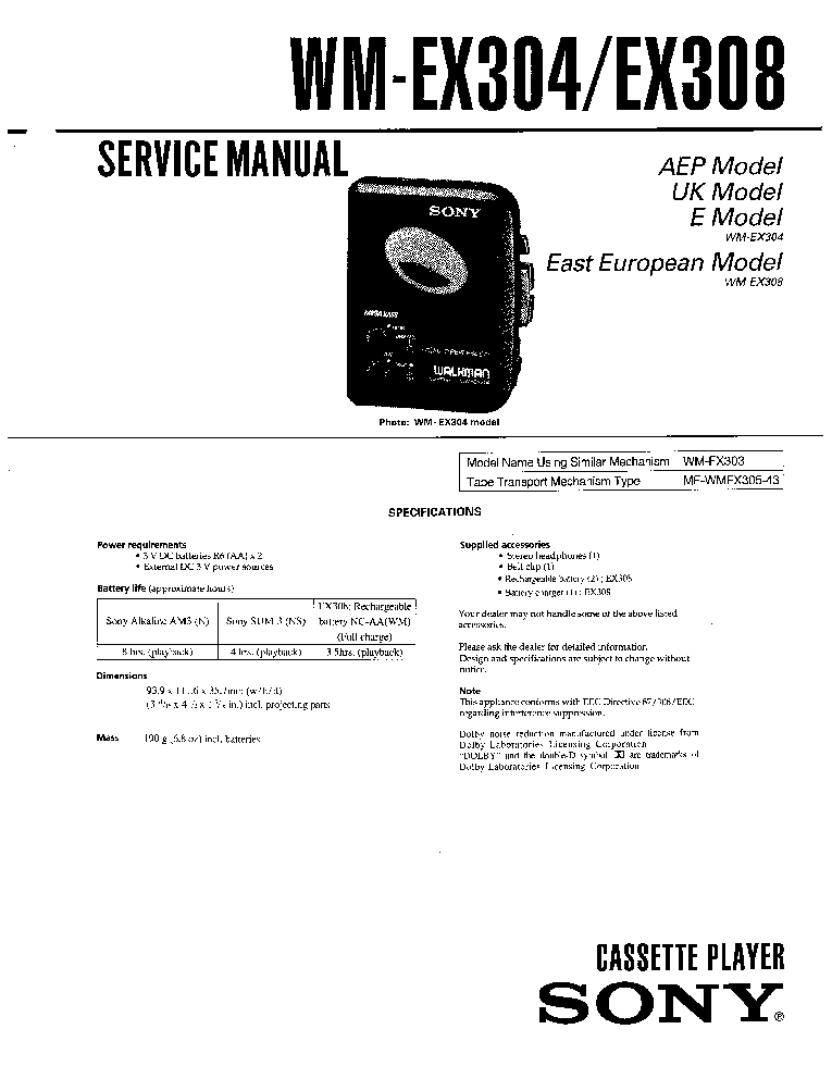 SONY XES-M50 Service Manual free download, schematics