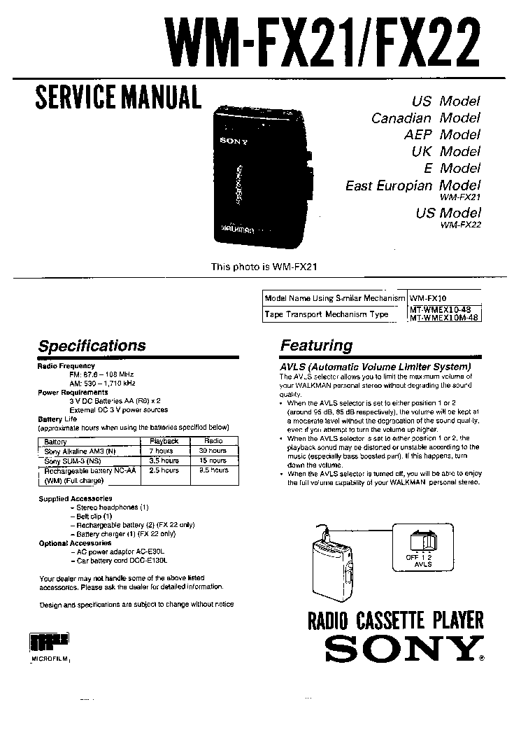 SONY WX-C570R Service Manual download, schematics, eeprom
