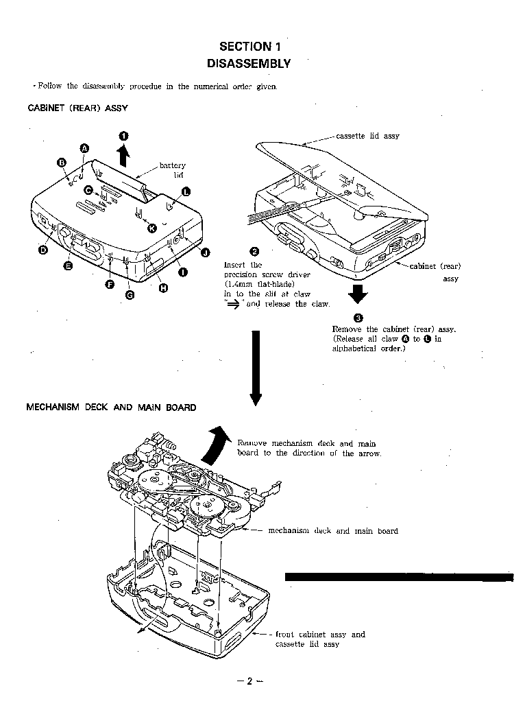 SONY WM-FX21 FX22 Service Manual download, schematics