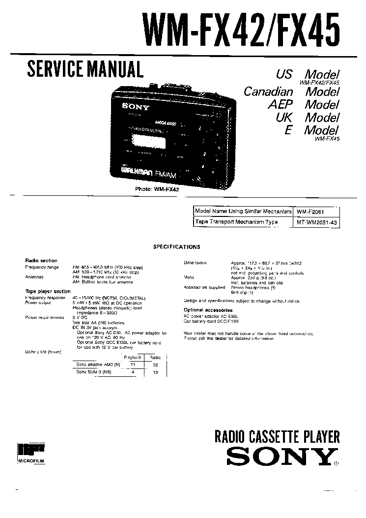 SONY CDP-XE510 Service Manual download, schematics, eeprom