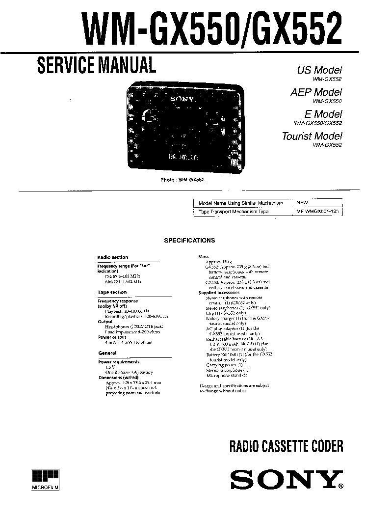 SONY HCD-ZUX999 Service Manual download, schematics