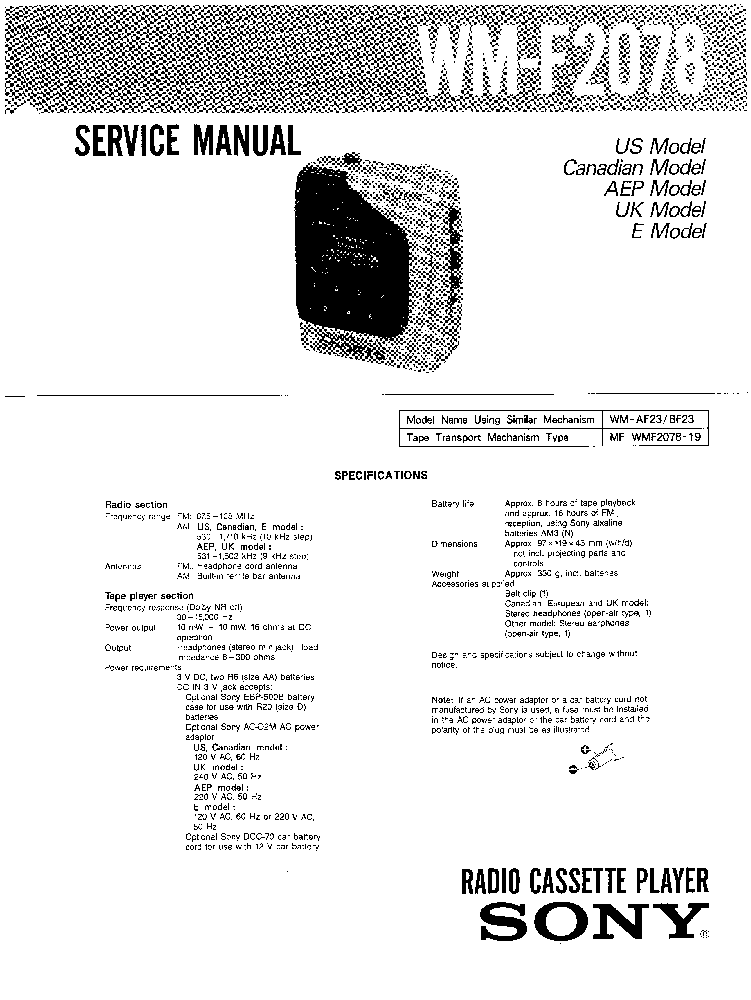 SONY CDP-C27 C37 Service Manual download, schematics